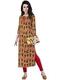 AnjuShree Choice Women Stitched Printed Rayon Staright Kurti