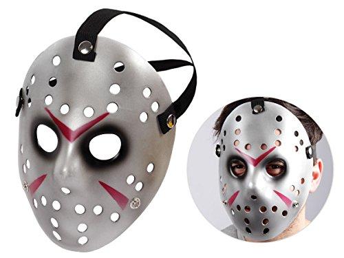 Alsino Totenkopfmaske Vendetta Maske Karneval Saw Fasching Maske Blue Mask Kostüme Geist, wählen:Mas-61 Jason Maske Silber