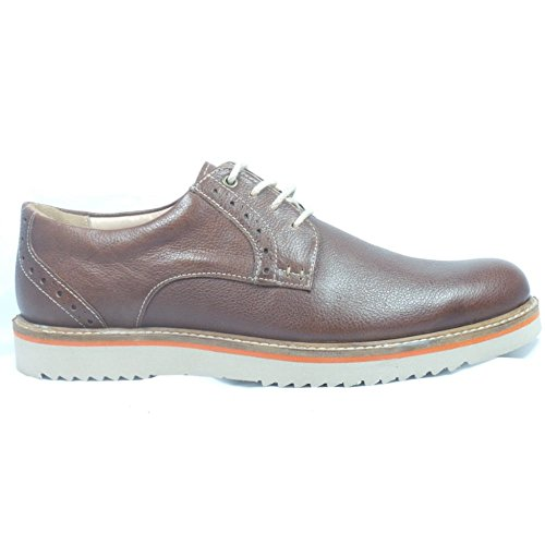 Lotus Brown Leather Lace-Up Casual Shoe 8