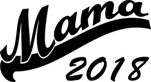 Mister Merchandise Herren Men V-Ausschnitt T-Shirt Mama 2018 Tee Shirt Neck bedruckt Navy