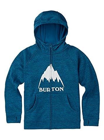 Burton Oak Full Zip à capuche pour garçon, Garçon, Oak Full-Zip Hoodie, Mountaineer Heather