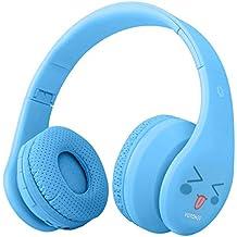 Auriculares inalámbricos para niños, auricular Bluetooth en la oreja, material de aceite de goma