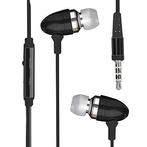 CAT S60 Earphone Casque écouteur intra-auriculaire stéréo en mode stéréo avec micro-casque et isolation acoustique ( Black )