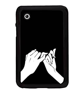Lovers Fingers 2D Hard Polycarbonate Designer Back Case Cover for Samsung Galaxy Tab 2 :: Samsung Galaxy Tab 2 P3100
