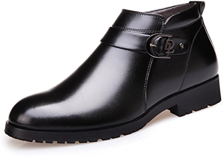Invierno Botas De Hombre Botas De Hombre Botas De Algodón Botas De Cuero De Inglaterra Moda Negocios  -