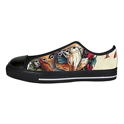 Dalliy Fox Men's Canvas shoes Schuhe Lace-up High-top Sneakers Segeltuchschuhe Leinwand-Schuh-Turnschuhe D