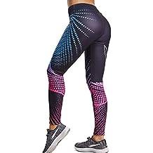 ebe2a5afbf6 FITTOO Pantalones Deportivos Mujer Yoga Leggings de Alta Cintura Elásticos  y Transpirables para Running Fitness
