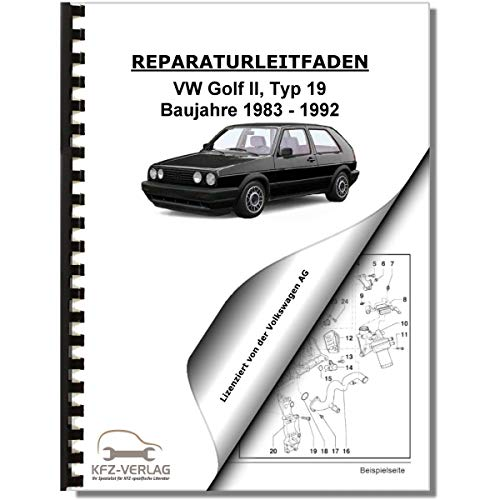 VW Golf 2, Typ 19 (83-92) 4-Zyl. 1,8l Benzinmotor 2V 90-112PS Reparaturanleitung
