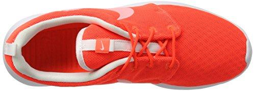 Nike Roshe One Br, Scarpe da Ginnastica Basse Uomo, Bianco-Bianco, 40.5 EU Bianco (Total Crimson Orange/weiß)