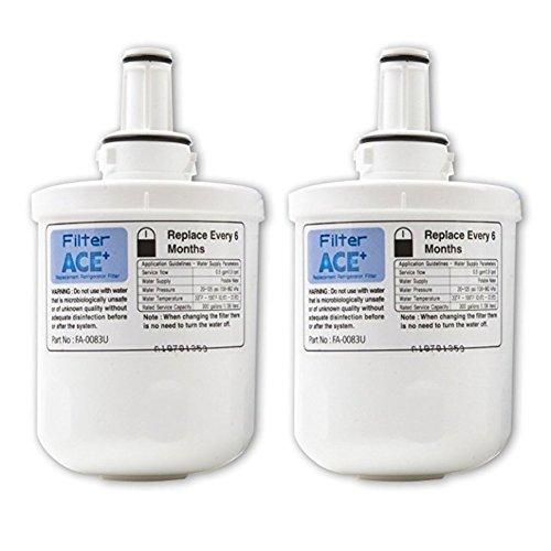 Pur-filter (2x ACE+ Filter ersetzen SAMSUNG Aqua-Pure Plus DA29-00003G / HAFIN2/EXP / DA29-00003F / HAFIN1/EXP / DA29-00003B Kühlschrankfilter - Replacement Refrigerator Filter)
