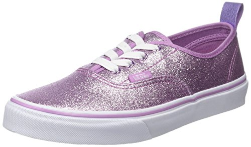 Vans Authentic Glitter (Vans Unisex-Kinder Authentic Elastic Lace Sneaker, Violett (Glitter + Metallic/Lilac), 37 EU)