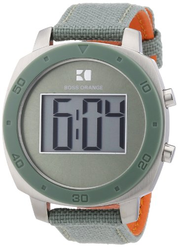 Boss Orange - 1502291 - Montre Femme - Quartz Digitale - Bracelet Nylon Vert