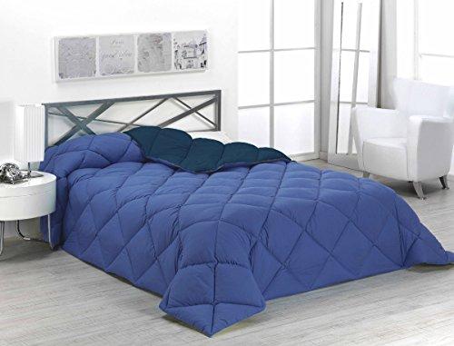 Sabanalia ENBI400-105A/M - Edredón nórdico de 400 g, bicolor, para cama de 105 cm, color azul y marino