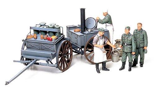 Preisvergleich Produktbild Tamiya 300035247 - 1:35 Diorama-Set Feldküche, 4 Figuren
