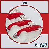 Shoeps Elastic Schnürsenkel rot rot Normal (14 im Pack)