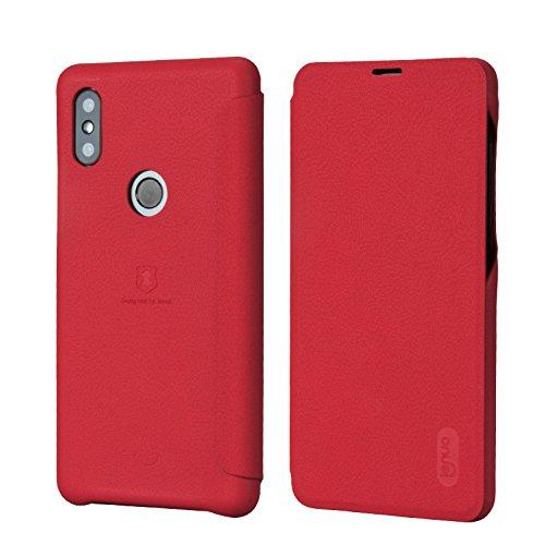 Funda® Ultra Delgado PU Faux Cuero Flip Xiaomi Mi Mix 2S(Rojo)