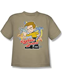 Star Trek - Quogs / Captain Suave Youth T-Shirt In Sand