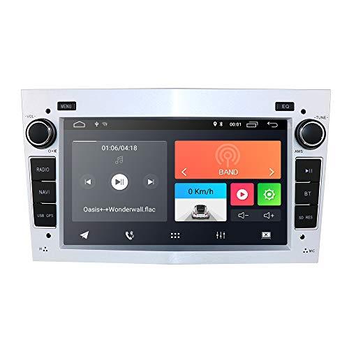 Radio para coche Android 9.0 con Bluetooth, navegación GPS, pantalla táctil de 7 pulgadas para Opel Antara Vectra Crosa Vivaro Zafira Meriva compatible con control en el volante, WiFi 4G DAB