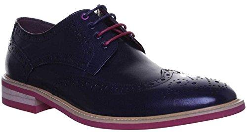 Justin Reece Lugano, Chaussures de ville à lacets pour homme Bleu Marine