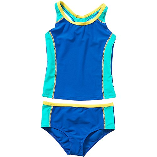 H2O Older Girls Sporty Tankini Two Piece Set Swim Skirt Beach Cover Up