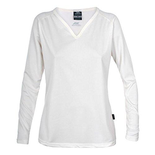 Trespass Women' s Serendipity maniche lunghe, Donna, Serendipity Long Sleeve, Weiß - Ghost, L