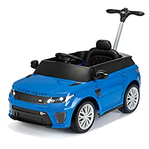 Range Rover TY6138BL Electric, Sport SVR, Ride On with Push Handle and Working Headlights, Azul