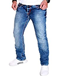 00c68dded8e2 Herren Jeans Hose Cargo Clubwear Freizeit Denim Blau Destroyed Used J.2.9