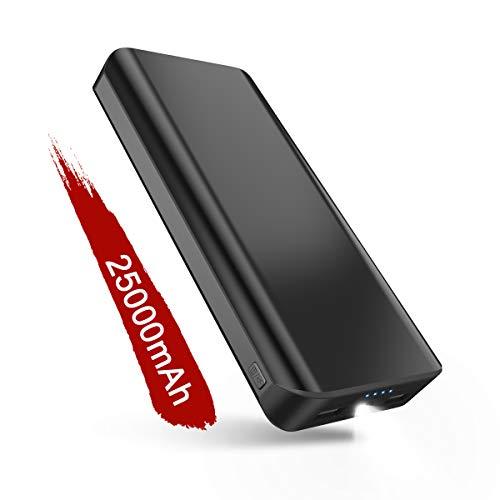 Powerbank 25000mAh 2 USB Ports Externer Akku mit LED-Statusanzeige LED Licht Extrem hohe Kapazitat Powerbank für iPhone X / 8 /7 Plus iPad Samung Huawei Tablet Kameras PSP und andere Smartphones 2 X Akku Usb