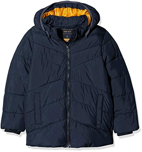 NAME IT Jungen Jacke NMMMIL Puffer Jacket Camp, Blau Sky Captain, 116
