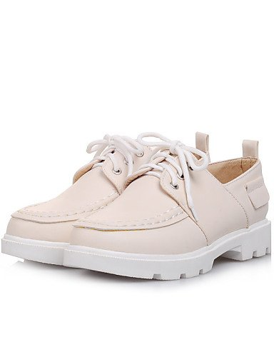 ZQ Scarpe Donna - Stringate - Ufficio e lavoro / Formale - Punta arrotondata - Basso - Finta pelle - Blu / Rosa / Viola / Beige , purple-us10.5 / eu42 / uk8.5 / cn43 , purple-us10.5 / eu42 / uk8.5 / c blue-us9.5-10 / eu41 / uk7.5-8 / cn42