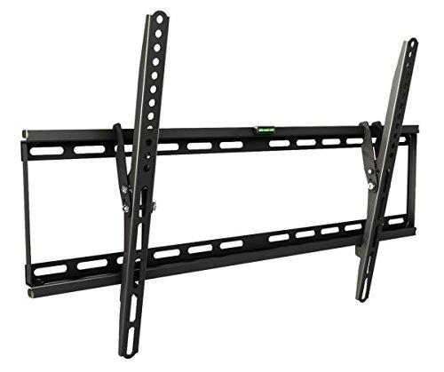 RICOO TV Wandhalterung N1964 Universal für 37-75 Zoll (ca. 94-191cm) Neigbar Super Flach Wand Halter Aufhängung Fernseh Halterung auch für Curved LCD und LED Fernseher | VESA 300x100 600x400 Schwarz Vizio 47