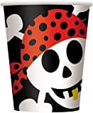 9oz Pirate Party Paper Cups, Pack of 8