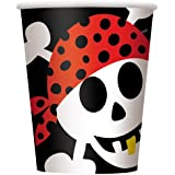 Partygram - 8 vasos pirata, 250 cl  (40496)