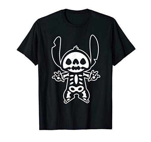 Disney Stitch Halloween Skeleton  T-Shirt