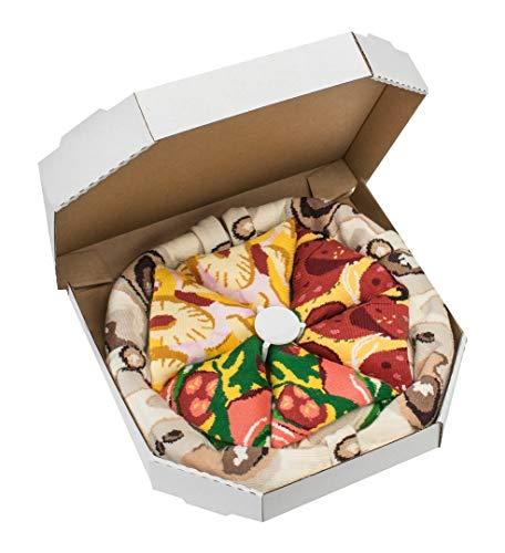 Rainbow Socks - Pizza MIX Italiana Hawaiana Pepperoni Mujer Hombre - 4 pares de Calcetines - Tamaño UE 36-40