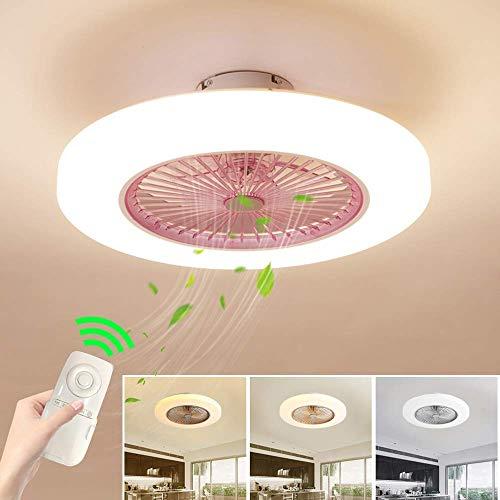 Deckenventilator mit Beleuchtung Dimmbar mit Fernbedienung Leise Moderne LED Deckenlampe für Kinderzimmer Schlafzimmer Wohnzimmer, Einstellbare Windgeschwindigkeit Fan-Licht, 72 W (Licht-fan Fernbedienung,)