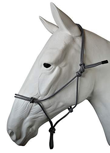 Natürliche Pferdehalfter Halfter für Parelli-Training in 11 Größen - Miniatur, Fohlen, Shetland, Weanling, Pony, Cob, Arab, Full Horse, Extra Full & Draft/Zugluft, grau, 03. Miniature