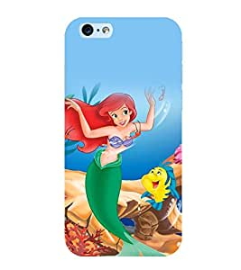 Printtech Designer Printed Disneyy Ariel Mermaid Back Cover for Apple iphone 6 / iphone 6s With Shockproof Technology