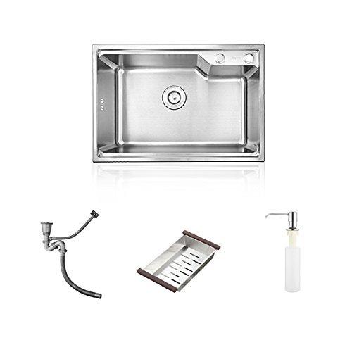 HomeLava Küchenspülen 1 Becken 304 Edelstahl-Spüle (58 x 43 x 23 cm)