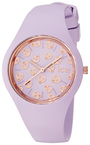 Ice Watch Ice Skull Lilac Small Women's Quartz Analogue Watch with Violet Dial and Violet Silicone Bracelet ICE.SK.LIL.S.S.15