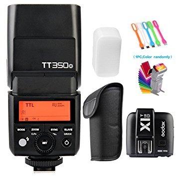 Godox tt350-o TTL GN36HSS 1/8000s 2,4G Flash Speedlite + x1t-o Wireless Trigger Transmitter Kompatibel für Olympus Panasonic Kameras -