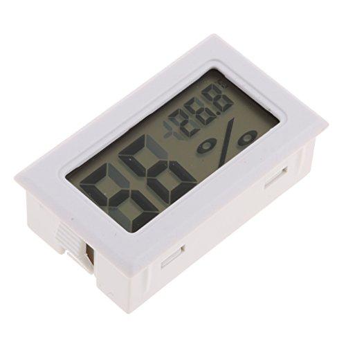 MagiDeal Mini LCD Digital Thermometer Hygrometer Kühlschrank Gefrierschrank Tester Temperatur - Weiß