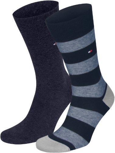 4er Pack Tommy Hilfiger Fun Rugby Herren Socken (43/46, dunkelblau)