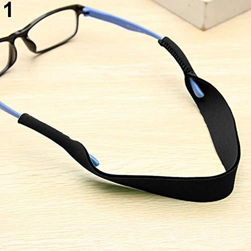 Terzsl Nackenband für Sonnenbrillen und Lesebrille, Schwarz