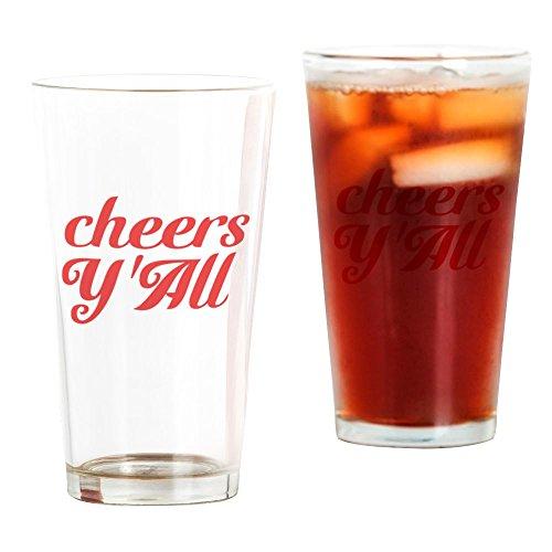 CafePress – Cheers Yall – Pint-Glas, 473 ml Trinkglas farblos