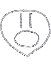 SHAZE Rhodium-Plated Star Parade Jewelry Set | Necklace for Women