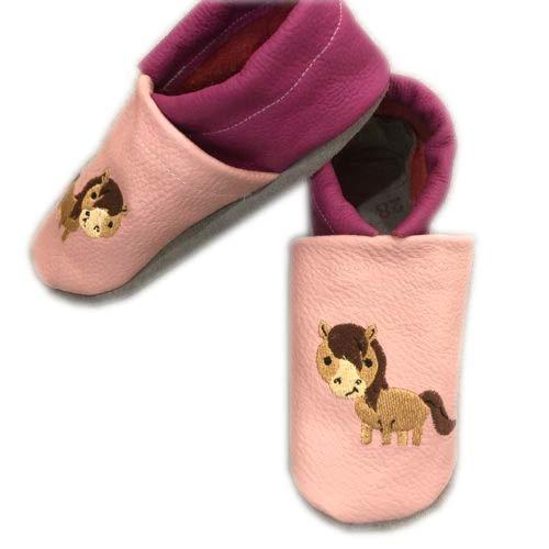 Handmade Lederpuschen Kinderschuhe Babyschuhe Pferd