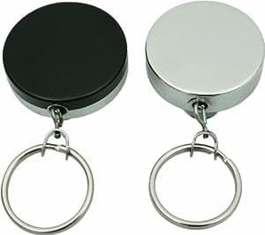 2 Stück Rollmatik Schlüssel Kellner Kette Schlüsselkette Rollmatic schwarz u. silber