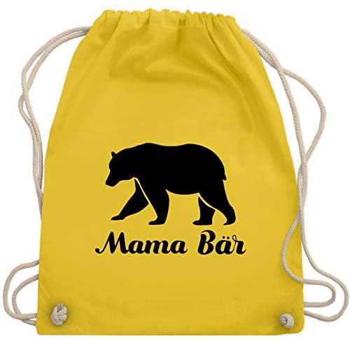 Muttertag - Mama Bär - Unisize - Gelb - WM110 - Turnbeutel & Gym Bag