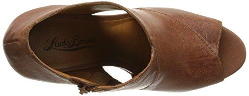Lucky Brand Cerah Femmes Cuir Talons Compensés Almond